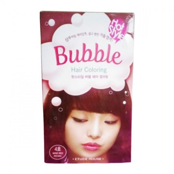 Hot Style Bubble Hair Color (04 Wine Red)