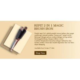2IN1 MAGIC BRUSH IRON - STRAIGHT & CURL
