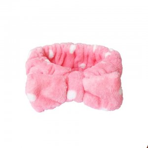 Polka Bow Hairband (pink)