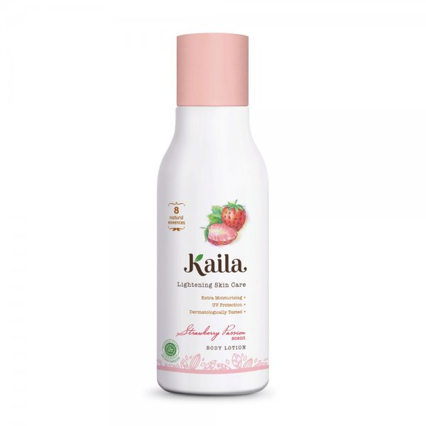 Lightening Skin Care Body Lotion - Strawberry Passion Scent (100ml)