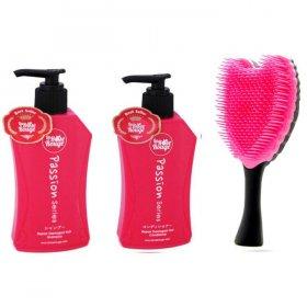 La Rose Set Sisir: 1 Set Shampoo & Condi + 1 Sisir Cherubim Hitam