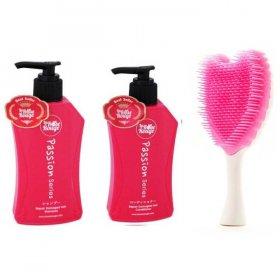 La Rose Set Sisir: 1 Set Shampoo & Condi) + Sisir Cherubim Putih