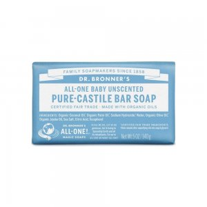 Pure Castile Bar Soap Unscented (140gr)