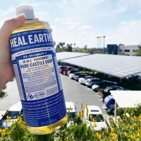 Pure Castile Liquid Soap Peppermint (473ml)