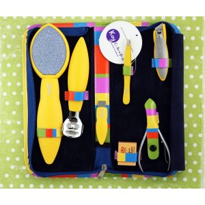 Credo Solingen Pedi Set 7 Pices Yellow