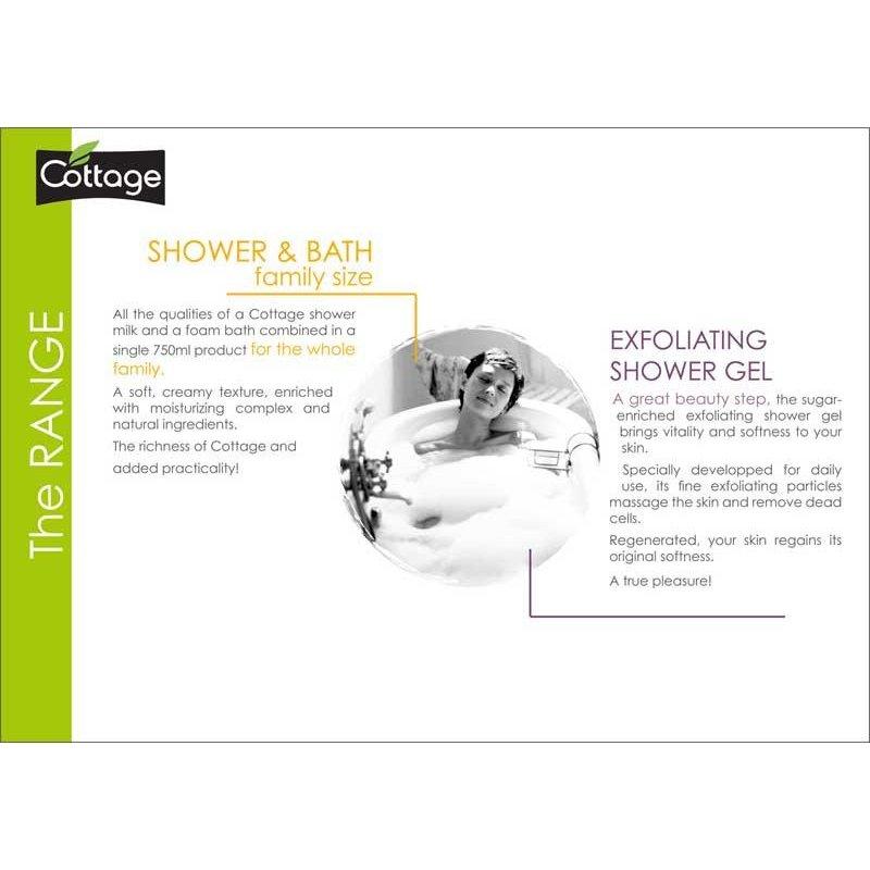 cottage moisturizing shower gel white peach 250ml